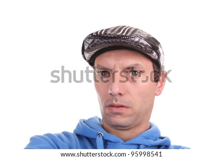 beautiful Casual man with hat