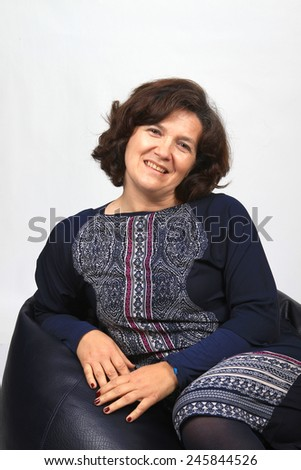 beautiful casual Mature woman - stock photo