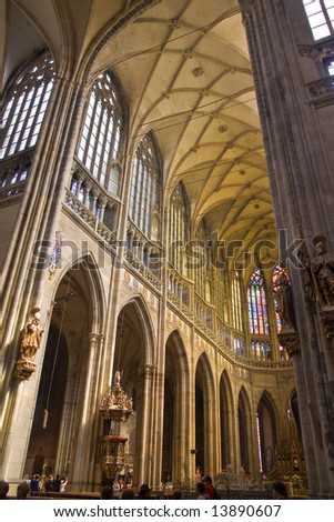 beautiful cathedral in prag, czech republic - stock photo