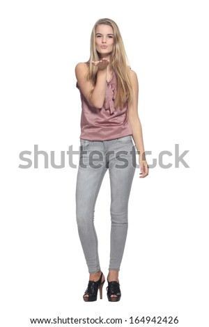Beautiful caucasion woman  - stock photo