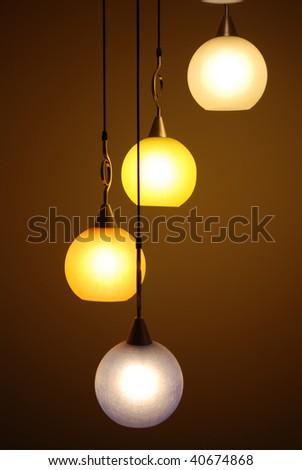 beautiful chandelier backgrounds - stock photo
