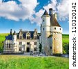 Beautiful Chenonceau castle , Loire valley, France - stock photo