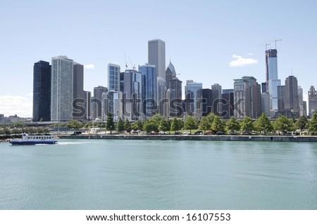 Beautiful Chicago skyline - stock photo