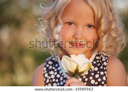 Beautiful child. - stock photo