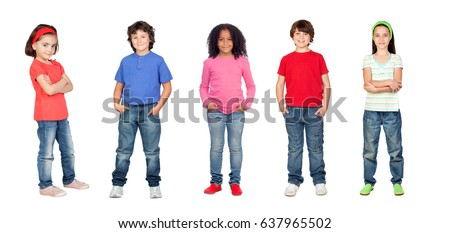 Beautiful children isolated on a white background
