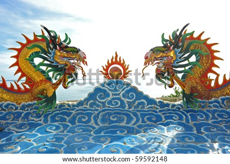 beautiful chinese dragon - stock photo