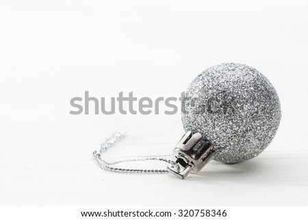 Beautiful Christmas decoration close-up - stock photo