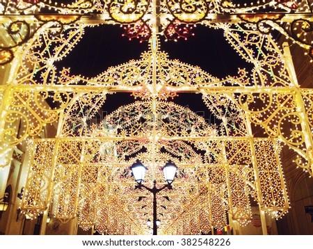 Beautiful Christmas decorations - stock photo