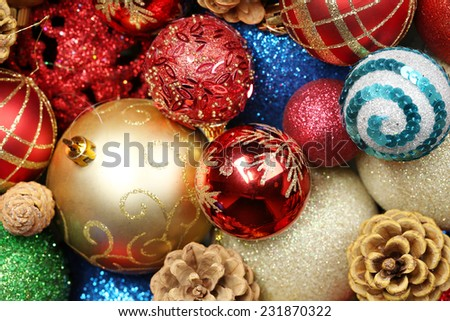 Beautiful Christmas decorations background