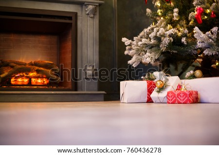 Beautiful Christmas Gifts Under Tree New Stock Photo (Royalty Free ...