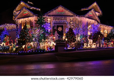 Lovely Beautiful Christmas Lights Display. Design Ideas