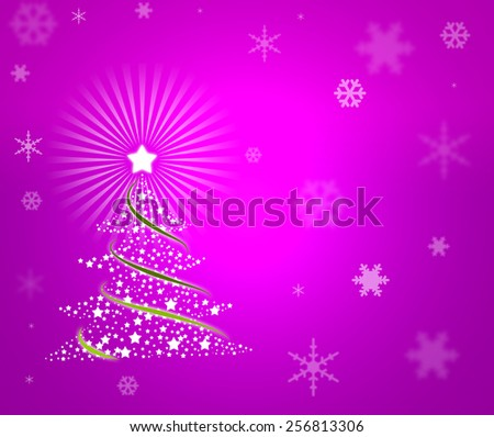Beautiful christmas new year background - stock photo