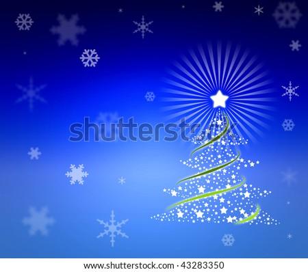 Beautiful christmas new year background - stock photo