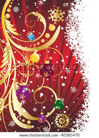 Beautiful Christmas (New Year) background for design use