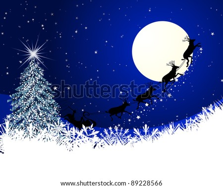Beautiful Christmas (New Year) card for design use - stock photo