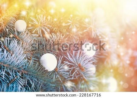 Beautiful Christmas Night - stock photo