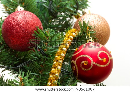 Beautiful Christmas tree decorations