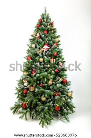 Beautiful christmas tree isolated on a white background