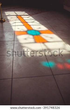 beautiful church interior - stock photo