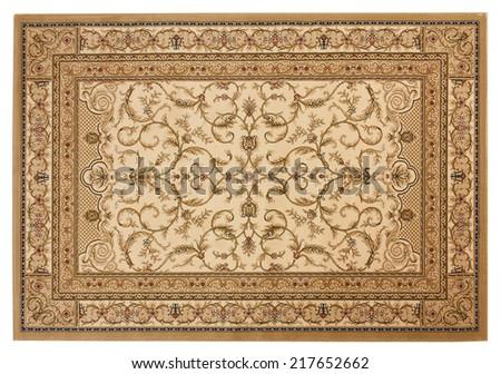 Beautiful classical carpet of machine work - stock photo