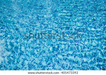 beautiful clear, pure and transparent water in pool