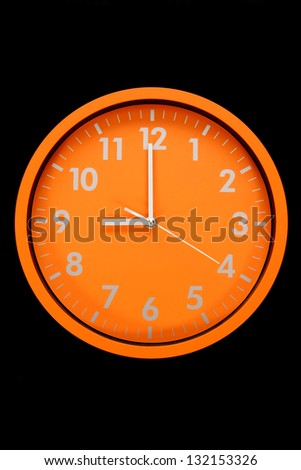 beautiful clock on the wall - stock photo