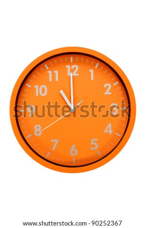 beautiful clock on the wall, 11a.m., 11p.m. - stock photo