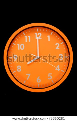 beautiful clock on the wall, 8h, 20h, business photo - stock photo