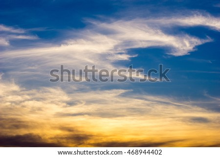 beautiful cloud for background
