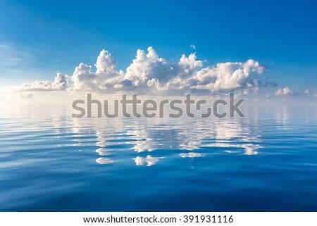 Beautiful cloud over ocean, Maldives - stock photo