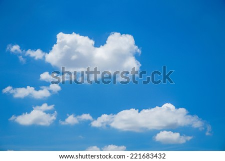 beautiful clouds and bule sky - stock photo