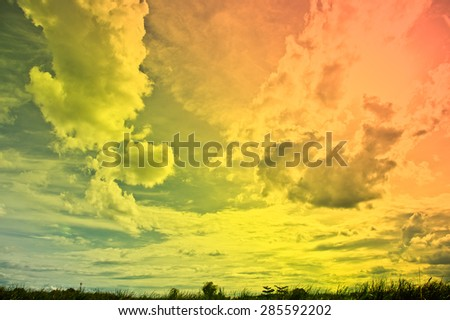 Beautiful clouds and sky, Backgrounds