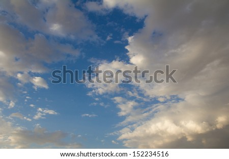 beautiful clouds in the blue sky