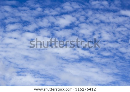 Beautiful clouds on the horizon