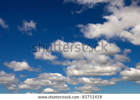 Beautiful clouds seen from the blue sky - stock photo