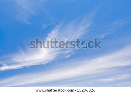 beautiful cloudscape with a blue sky - stock photo