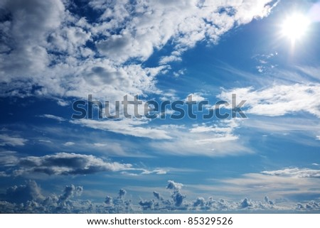 Beautiful cloudy sky. - stock photo
