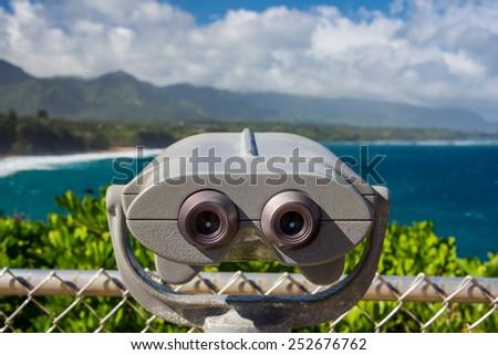 Beautiful coastal view - stock photo