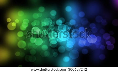 Beautiful colored bokeh.
