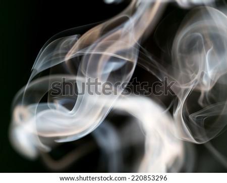 Beautiful colored smoke - stock photo