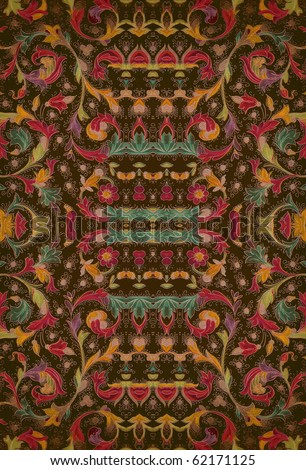 beautiful colorful arabic style oriental decorative texture. More of this motif & more decors in my port. - stock photo