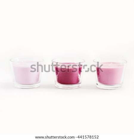 Beautiful colorful candles - stock photo