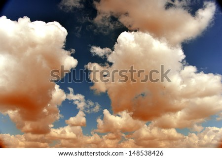 Beautiful colorful clouds - stock photo