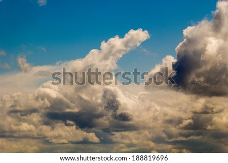 Beautiful, colorful, dramatic clouds and sky