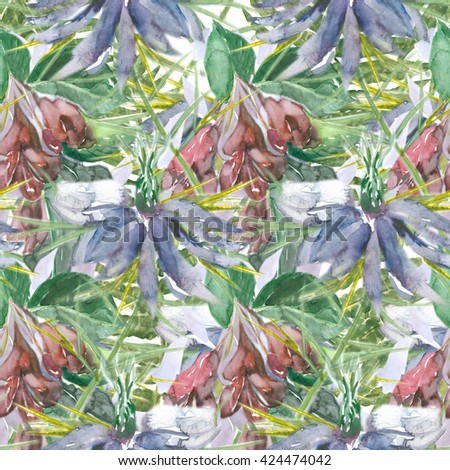 Beautiful, colorful floral seamless pattern