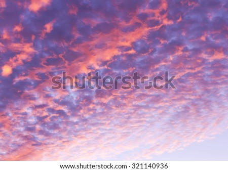 Beautiful colorful heavenly majestic sunset sky scene for use as background. - stock photo
