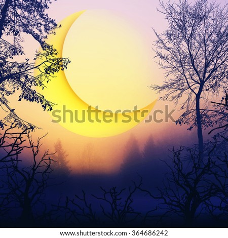 Beautiful colorful landscape - stock photo