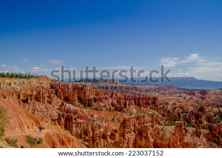beautiful colorful radiant landscape bryce canyon national park utah - stock photo