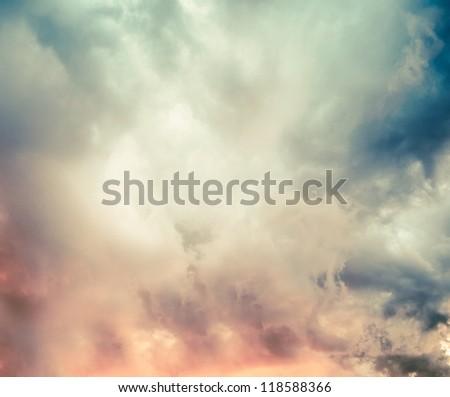 Beautiful colorful sky - stock photo