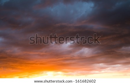 Beautiful colourful sky view